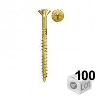 100 Vis VBA tête fraisée Power-Fast PZ2 Ø4x30 - Filetage total - Fischer