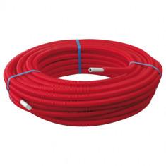 100m Tube Multicouche Ø16x2,0 - Alu 0,20 mm- Prégainé Rouge SOMATHERM