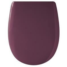 Abattant WC Ariane prune brillante - descente manuelle et Déclipsable - Olfa