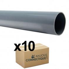 Lot de 10 Tubes PVC évacuation NF-Me lisse - diamètre 32 mm - 4 mètres