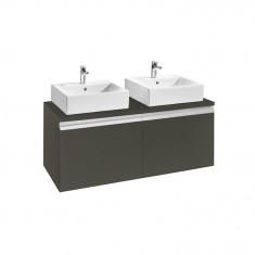 Meuble HEIMA 1200 2 tiroirs pour 2 vasques à poser DISPONIBLE en 3 COLORIS