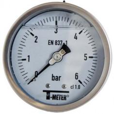 "Manomètre TOUT Inox à bain de glycérine RADIAL Mâle 1/2"" (15/21) - Ø100 - Pression 0 / 2.5 bars - Sferaco"