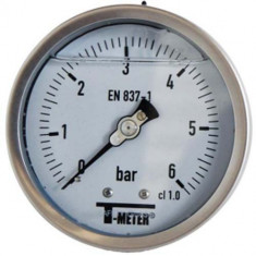 "Manomètre TOUT Inox à bain de glycérine RADIAL Mâle 1/2"" (15/21) - Ø100 - Pression 0 / 60 bars - Sferaco"