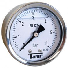 "Manomètre boitier inox à bain de glycérine AXIAL Mâle 1/4"" (8/13) - Ø50 - Pression 0 / 1.6 bars - Sferaco"