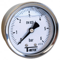"Manomètre boitier inox à bain de glycérine AXIAL Mâle 1/4"" (8/13) - Ø50 - Pression 0 / 10 bars - Sferaco"