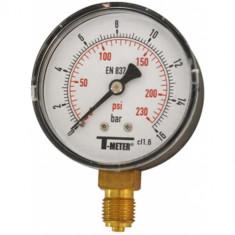 """Manomètre ABS à cadran sec RADIAL Mâle 1/4"""" (8/13) - Ø63 - 0 à 25 bars - Sferaco"""