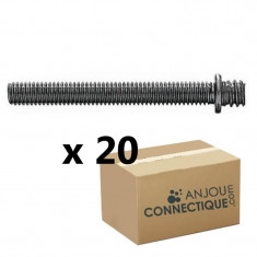 Patte à vis métaux 7x150 - 6x60mm - 20 pièces