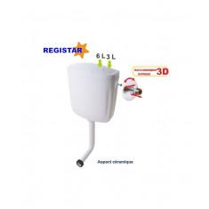 Réservoir wc double débit 3/6L semi-bas - Regiplast