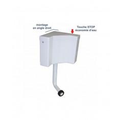Réservoir wc d'angle semi-bas avec tube - Regiplast