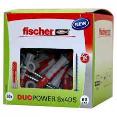 50 Chevilles bi-matière DUOPOWER Ø8 x 40 S avec vis + 50 vis 5x50mm - Fischer
