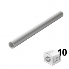 Lot de 10 Tubes PVC blanc NF diamètre 50 mm - 2 mètres - Nicoll