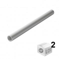 Lot de 2 Tubes PVC blanc NF diamètre 50 mm - 2 mètres - Nicoll