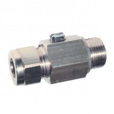 Vanne à sphère équerre laiton chromé pour lavabo CU12-CU10 à commande par tournevis - Ø14, sortie 10 - Sferaco