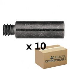 Rallonge patte à vis 7x150 - Mâle Femelle - Longueur 20mm - 10 pièces