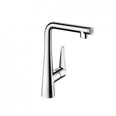 Mitigeur évier Talis Select S 300 aspect acier 72820800 Hansgrohe