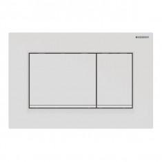 Plaque de déclenchement blanc mat laqué, blanc Sigma30 pour rinçage double touche - Geberit