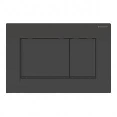Plaque de déclenchement noir, noir mat Sigma30 pour rinçage double touche - Geberit