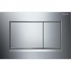 Plaque de déclenchement chromé brillant, chromé mat Sigma30 pour rinçage double touche - Geberit