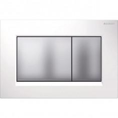 Plaque de déclenchement blanc, chromé mat Sigma30 pour rinçage double touche - Geberit