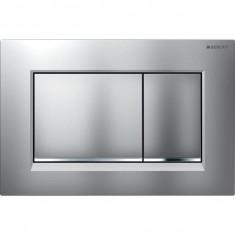 Plaque de déclenchement chromé mat, chromé brillant Sigma30 pour rinçage double touche - Geberit