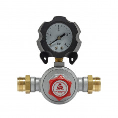 Mano-détendeur haute pression avec manomètre 8kg/h - 0,5 à 3b - M20x150 - Favex