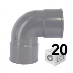 Lot de 20 raccords PVC - Coudes 87°30 FF Ø100