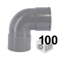 Lot de 100 raccords PVC - Coude 87°30 FF Ø32 ou Ø40 ou Ø50 FIRST-PLAST