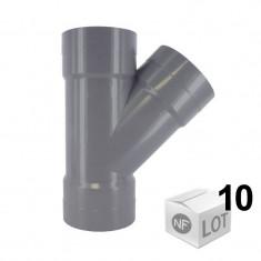 Lot de 10 Culottes PVC 45° Femelle-Femelle Ø32 FIRST PLAST