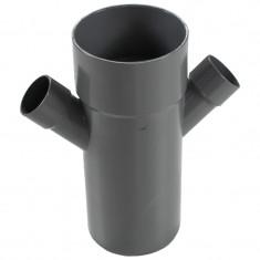 Culotte PVC réduite double parallèle Mâle Femelle 45° Ø100 x 40 x 40 FIRST-PLAST