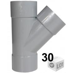 Lot de 30 Culottes PVC 45° Femelle-Femelle Ø100 FIRST PLAST