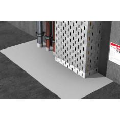 Système de panneau enduit coupe-feu pour le calfeutrement de passage de services FCPS