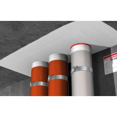 20 Bandes coupe-feu intumescente pour tuyauterie non métallique FiPW 2/82