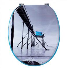 Abattant WC DECO Bois cabane pêcheur - Wirquin Pro 20720369