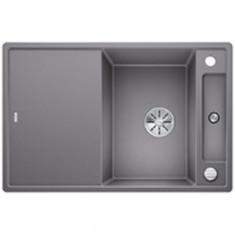 Évier de cuisine Axia III 45S - Alumétallic - sous-meuble 45 cm - L 780 x l 510 x P 185 mm + planche en verre - Blanco