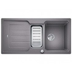 Évier de cuisine Neo 6S - Alumétallic - sous-meuble 60 cm - L 1000 x l 510 x P 190 mm + Planche en composite - Blanco