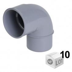 Lot de 10 Coudes PVC 87°30 - Mâle Femelle Ø32 ou Ø40 ou Ø50 - Nicoll