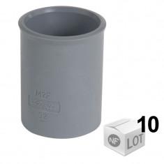 Lot de 10 manchons en PVC pour l'évacuation Ø32 ou Ø40 ou Ø50 - Femelle Femelle - Nicoll