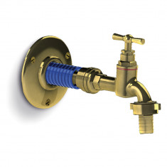 """Flexible sanitaire Inox Ø intérieur 13mm - coude Femelle 1"""" (26/34) - Femelle écrou libre 1"""" (26/34) - longueur 1,00 mètre"""