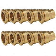 """Lot de 10 Manchons laiton droit PEHD Ø25 Femelle 3/4"""" (20/27) - ACS 16 Bars - Arco"""