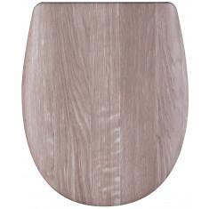 """Pack accessoires WC set Olfa """"Angora Wood"""" en descente manuelle"""