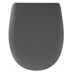 Abattant WC Ariane Carbone Mat - descente assistée - déclipsable