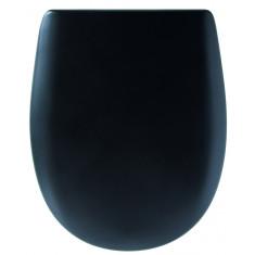 Abattant WC Ariane soft black mat - descente manuelle et Déclipsable - Olfa