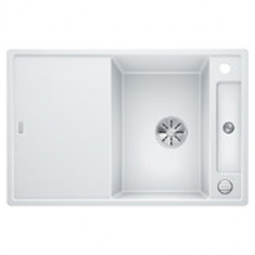 Évier de cuisine Axia III 45S - Blanc - sous-meuble 45 cm - L 780 x l 510 x P 185 mm + planche en verre - Blanco