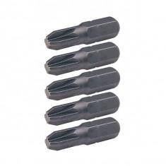 5 embouts de vissage Pozidriv N°2 - longueur 25 mm - Ks Tools 911.2223