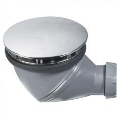 Bonde de douche JAMES Dôme métal NF Ø90 mm - Wirquin Pro 30720886