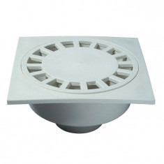 Bonde de sol 250x250 mm blanche - Wirquin PRO SP6025