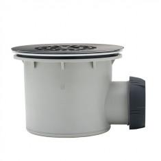 Bonde de douche TOURBILLON grille inox NF Ø90 mm - Wirquin Pro 30720888