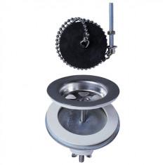 Bonde évier Ø60 mm à plateau en laiton pour évier 2 bacs communicants - Wirquin Pro 30720439