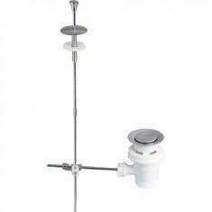 Bonde Lavabo Ø63 mm à tirette en plastique - Wirquin Pro 30720437