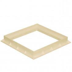 Cadre PVC anti-choc pour grille et tampon - SABLE - FIRST-PLAST